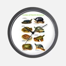 Turtles of North America Wall Clock