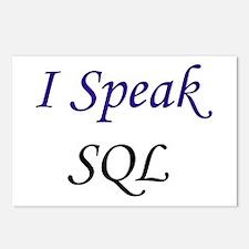 """""""I Speak SQL"""" Postcards (Package of 8)"""
