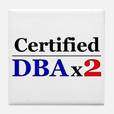 """""""DBAx2"""" Tile Coaster"""