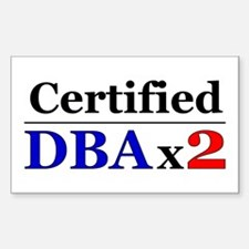 """DBAx2"" Rectangle Decal"