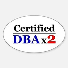 """DBAx2"" Oval Decal"
