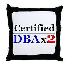 """DBAx2"" Throw Pillow"