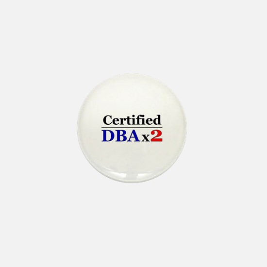 """DBAx2"" Mini Button"