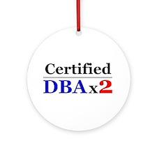 """DBAx2"" Ornament (Round)"