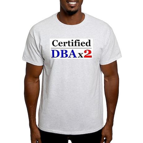 """DBAx2"" Ash Grey T-Shirt"
