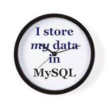"""""""I store my data in MySQL"""" Wall Clock"""