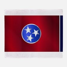 Flag of Tennessee Gloss Throw Blanket
