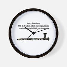 The Quarter-Tone Clarinet Wall Clock