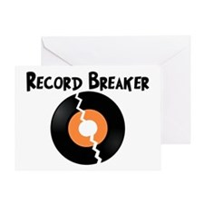Record Breaker Greeting Card