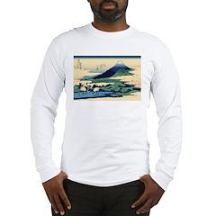Hokusai Umegawa in Sagami Province Long Sleeve T-S