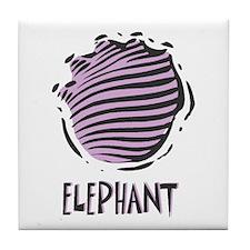 Elephant Print Tile Coaster