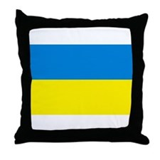 Ukraine Flag Throw Pillow