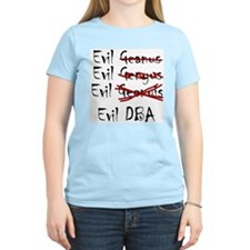 """Evil DBA"" Women's Pink T-Shirt"