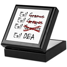 """Evil DBA"" Keepsake Box"