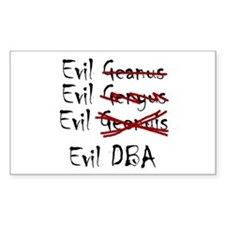 """Evil DBA"" Rectangle Decal"