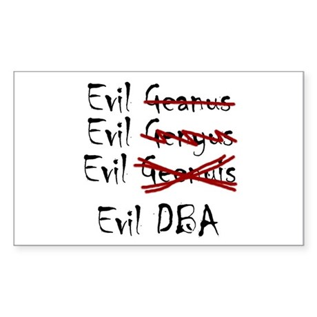 """Evil DBA"" Rectangle Sticker"