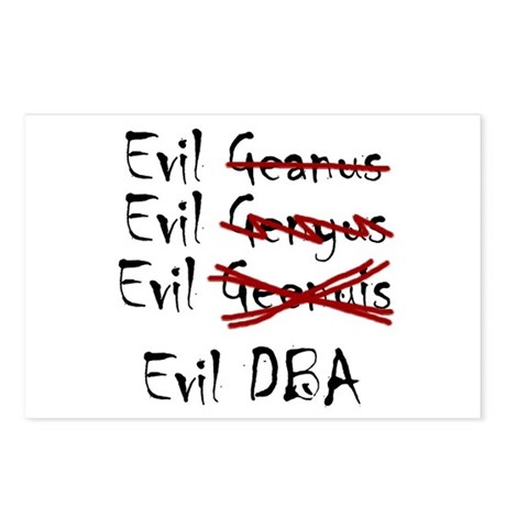 """""""Evil DBA"""" Postcards (Package of 8)"""