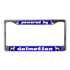 Powered by Dalmatian License Plate Frame