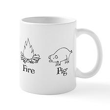 Conch, specs, fire and pig Mug