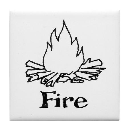 Fire Tile Coaster
