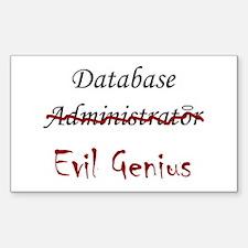 """DB Evil Genius"" Rectangle Decal"