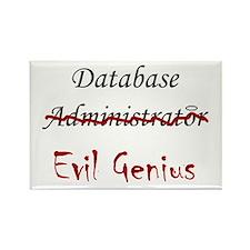 """""""DB Evil Genius"""" Rectangle Magnet"""