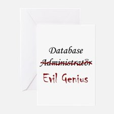 """DB Evil Genius"" Greeting Cards (Pk of 10)"