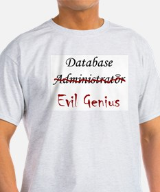 """DB Evil Genius"" Ash Grey T-Shirt"