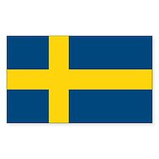 Sweden Flag Rectangle Bumper Stickers