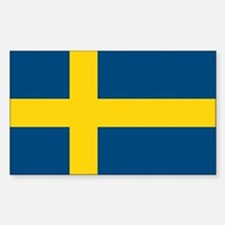 Sweden Flag Rectangle Decal