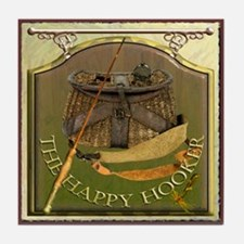 The Happy Hooker Pub Sign Tile Coaster
