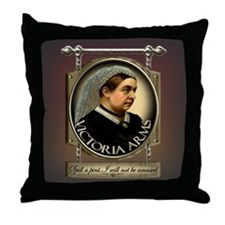 The Victoria Arms Throw Pillow