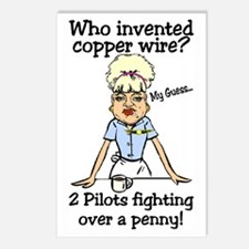 copper wire Postcards (Package of 8)