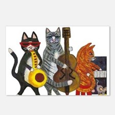 Jazz Cats Postcards (Package of 8)