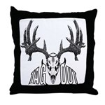 Whitetail deer,tag out Throw Pillow