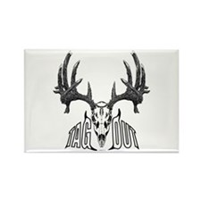 Whitetail deer,tag out Rectangle Magnet