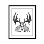 Whitetail deer,tag out Framed Panel Print