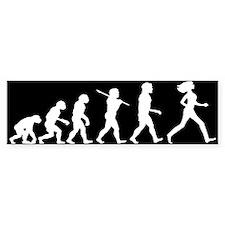 Evolution of Woman Bumper Sticker