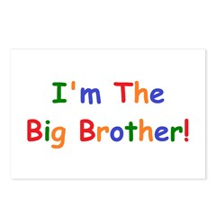 I'm the Big Brother Postcards (Package of 8)