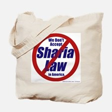 NO Sharia Law in America 2-sided Tote Bag