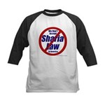NO Sharia Law in America Kids Baseball Jersey