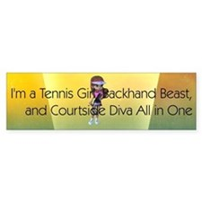 TOP Tennis Court Diva Bumper Sticker