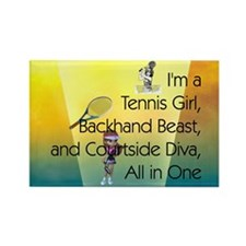 TOP Tennis Court Diva Rectangle Magnet