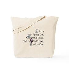 TOP Tennis Court Diva Tote Bag