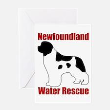 Landseer Water Rescue Greeting Card