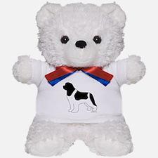Landseer Silhouette Teddy Bear