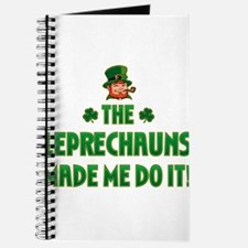 The Leprechauns Made Me Do It Journal