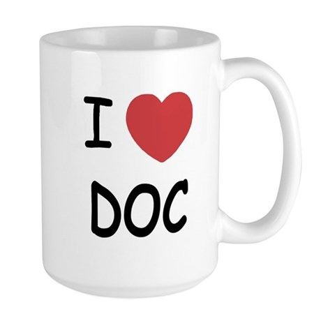 I heart doc Large Mug
