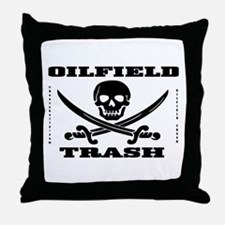 Oil Field Trash,Skull Throw Pillow