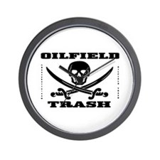 Oil Field Trash,Skull Wall Clock